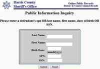 Harris County Inmate Jail Search